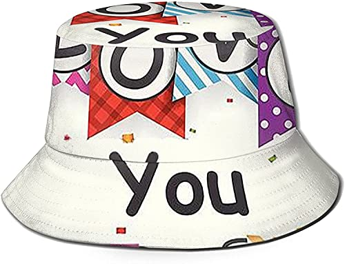 KEROTA Sombrero de cubo con texto