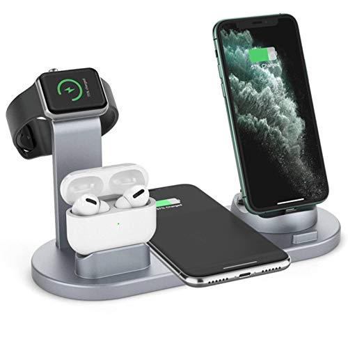 N-B Mobile Phone Wireless Charger, Watch Headset Mobile Phone Charging Stand, Desktop Wireless Fast Charging, 4 In 1 Fast Charging Station, Compatible With Apple And Android Systems