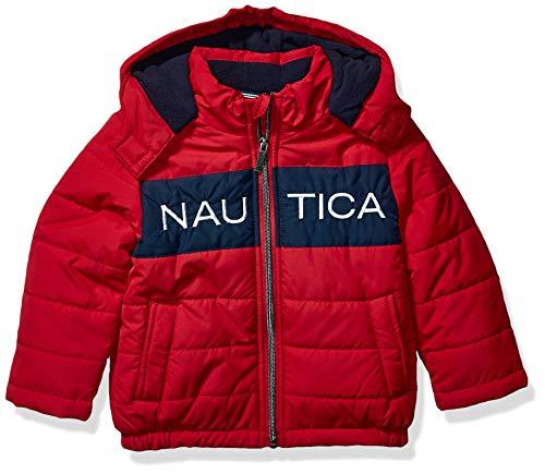 Nautica - Chaqueta Impermeable con Logotipo de Burbujas para niños, Rojo Rouge, 2 Años