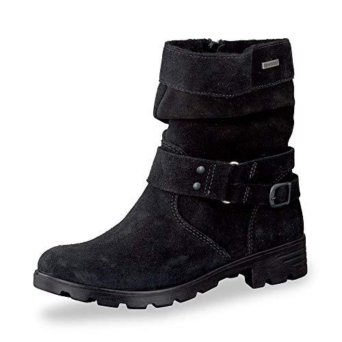 RICOSTA Fille Bottes & Boots Ricarda, Bottes d'hiver pour Enfants, Chaussures d'extérieur,doublées,imperméables,Schwarz,37 EU / 4 UK
