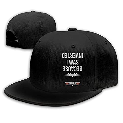Gorra de béisbol con diseño de pistola invertida, algodón lavado para adultos, sombreros ajustables para papá, negro
