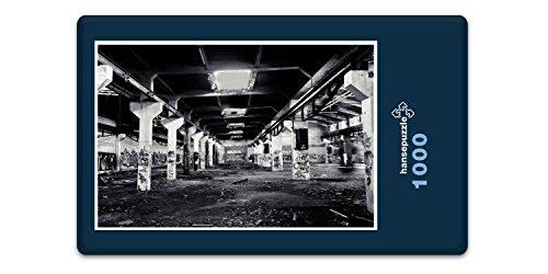 hansepuzzle 65530 Industrie - alte Lagerhalle, 1000 Teile in hochwertiger Kartonbox, Puzzle-Teile in wiederverschliessbarem Beutel.
