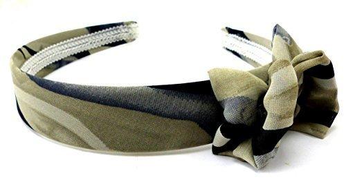 Evil Wear Haar-Reif schmal Damen Haar Reifen Haar-Klammern beige bis Oliv schwarz mit Schleife H17 3590