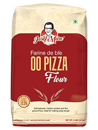 Josef Marc Morcote 00 Pizza Flour, 1kg - Unbleached & Medium Protein Flour, Non-chlorinated, Non-GMO, Non-Fortified & Non-bro-mated, Italian Type 00 Flour