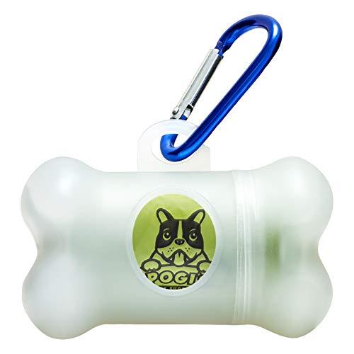 Pogi's Kotbeutelspender – inkl. 1 Rolle (15 Beutel) – groß, biologisch abbaubar, parfümiert, auslaufsicher