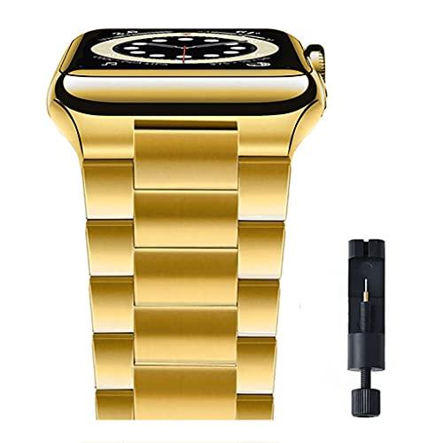 Correa de Acero Inoxidable Ultra Delgada, para Apple Watch 42mm 38mm 1/2/3/4 Reloj de Metal Banda de Banda de Banda para Hombres Mujeres de reemplazo de Mujeres para iWatch Series 4 5 6 SE 44mm 40mm