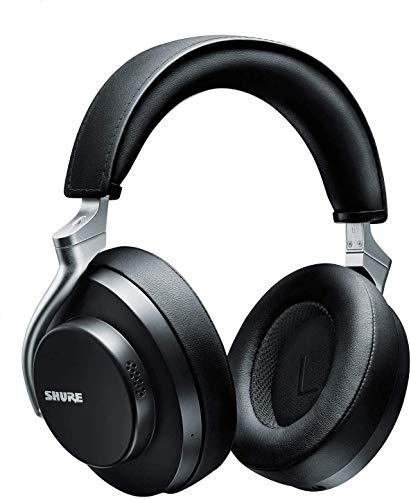 Shure AONIC 50 Kabelloser Kopfhörer mit Geräuschunterdrückung, erstklassiger Klang in Studioqualität, Bluetooth 5, bequemer Over-Ear Sitz, 20 Stunden Akkulaufzeit, komfortable Bedienung - Schwarz