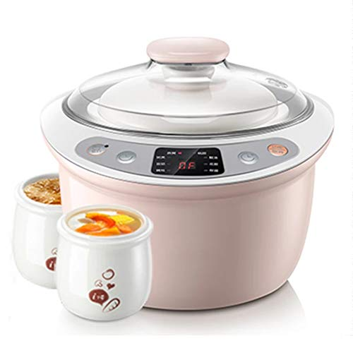 GAYBJ Intelligente Elektro Slow Cooker Appointment Timing-Dampfgarer Keramik Container Kesselwasser Stew Suppe Porridge Pot Anti-Dry
