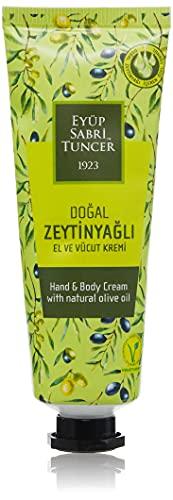 Eyüp Sabri Tuncer Hand-und Körpercreme mit natürlichem Olivenöl 50ml I Handcreme I Bodycreme I Körpercreme I Hand Cream I Olive Oil