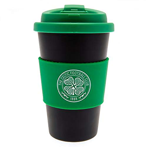 Official Licensed Celtic F.C - Silicone Grip Travel Mug