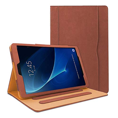 Danycase Case for Samsung Galaxy Tab A 10.1 SM-T580/T585, PU-Leather Folio Case Cover for Galaxy Tab A 10.1 Inch SM-T580 T585 2016 Vesion,with Document Card Pocket,Multiple Viewing Angles(Brown)
