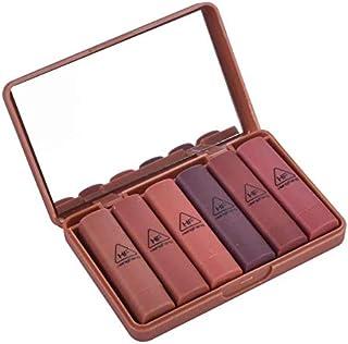 6Pcs Lipsticks Set Travel Size Pumpkin Color Fancy Lip Makeup Long-lasting Matte Lipstick 6 Color/Set Pumpkin Colors With ...