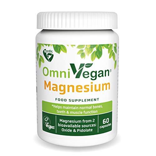 Nordic Nutraceuticals OmniVegan Magnesium Sources Oxide & Pidolate 60 Capsules