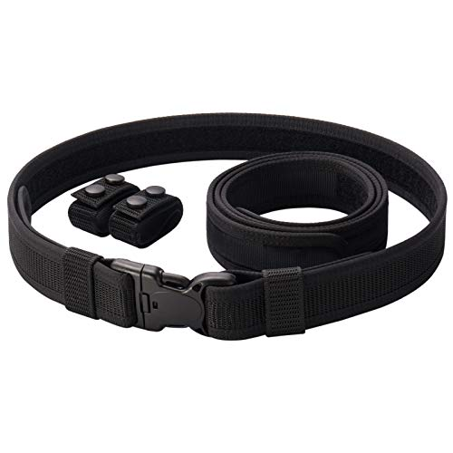 Vianyer Duty Belt for Law Enforcement Police 2' Tactical EDC Patrol Work Belt Officier Utility Web Belt for Security Correction M(30'-34')