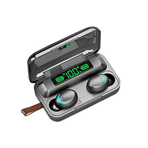 Inalámbrico Mini Auriculares Bluetooth 5.0 Deporte Auricular Portátil Caja de Carga, 3D with IPX7 Impermeabile, Todos los Dispositivos y teléfonos móviles habilitados para Bluetooth