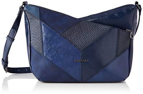 Desigual PU Body Bag, Bolsa para Cuerpo de Across para Mujer, Azul, U