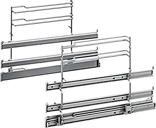 Bosch HEZ538S00 Zubehör für Backöfen / Auszugsystem / 3-fach Teleskopauszug / davon 1 ebenunabhängig / Edelstahl