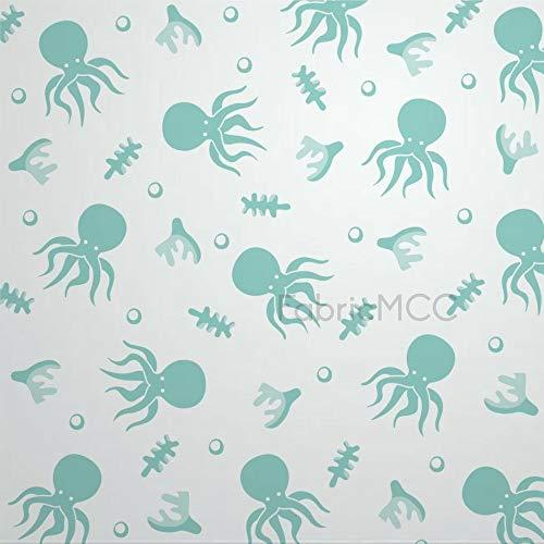 daoyiqi Juego de adhesivos decorativos para azulejos, pulpo de 30,5 x 30,5 cm, vinilo resistente al agua, 12 unidades para decoración de la cocina y el hogar