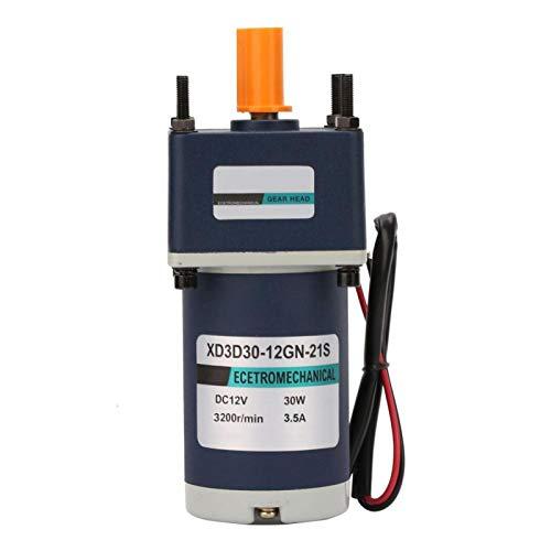 Stronerliou 12V/30W Motor de engranaje de CC de imán permanente eléctrico 3000/3200RPM Motor de engranaje de reducción(4)