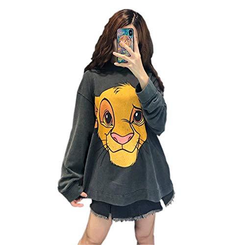 SHISAIGOU Pullover Frauen Herbst Winter Frauen Sweatshirt der könig der löwen karikaturdruck Hoodies Jacke weibliche warme Mode Mantel Casual Outwear