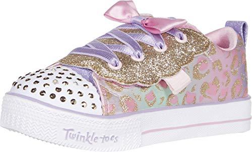 Skechers Kinder Mädchen Twinkle Toes – Shuffle Lite 314022N (Kleinkind/kleines Kind), Pink (Hellrosa/Mehrfarbig), 25 EU