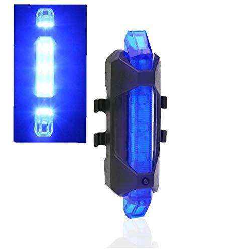 1pc USB Aufladbare Fahrrad-licht-wasserdicht Fahrrad-endstück-licht-3 Modus-Fahrrad-licht-sicherheits-warnleuchte Fits All Mountain Bikes, Straßen-Fahrrad, Rucksack (blau)