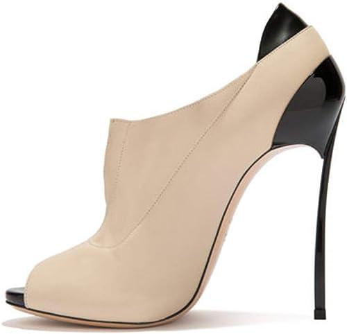 MagicXle MagicXle MagicXle Chaussures à Talons pour Femme Sandales Fishmouth Roman Chaussures Souliers Simples en métal Taille du Talon 248