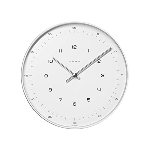 max bill Design-Wanduhr im Bauhaus-Stil | Quarz-Uhrwerk | Made in Germany | Ø 30 cm | Zahlen-Zifferblatt
