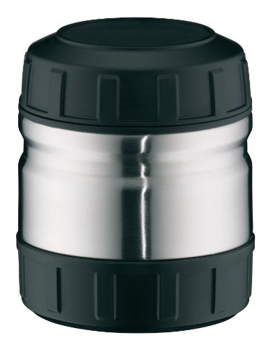 ALFI 5708205050 - Recipiente Termo de Acero Inoxidable, 0,50 l, Color Negro y Gris