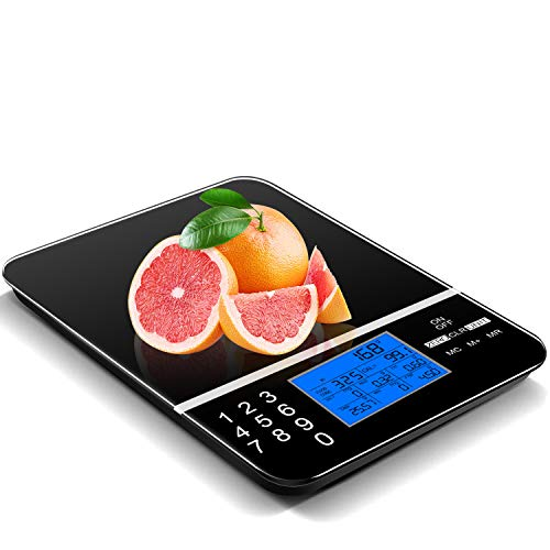 IDAODAN Smart Food Scale with Perfect Portions Nutritional Facts Display, Digital Nutrition Kitchen Scale - Accurate Food and Nutrient Calculator, Pursue a Healthier You (Black Scale)