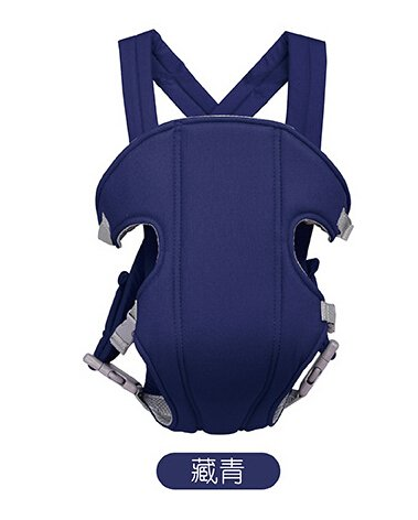 Hivel 3 en 1 Respirante Porte Bebe Kangourou Echarpe de Portage Ventral Dorsal Transporteur Sac Baby Carrier Baby Sling Wrap Peut Supporter Plus de 20kg - Bleu Fonce