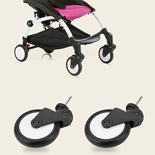 Ruedas de goma para cochecitos de bebé Accesorios Juego de ruedas delanteras y traseras para la rueda Yoya Vovo Kids Carriage Tools(1 Pair Front Wheel) 🔥