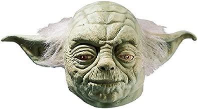 Star Wars Yoda Adult Full Latex Mask, Green, One Size Costume