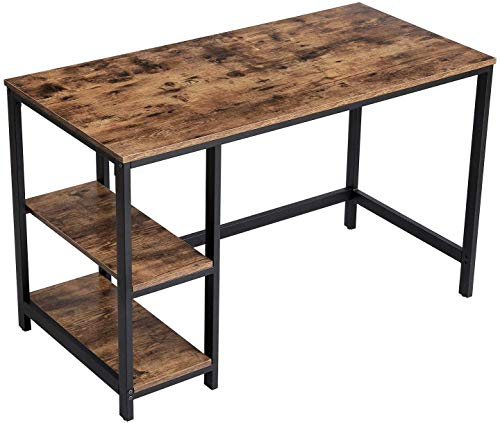 Accommodate Large Living Room Office Computer Desk Computer Table, Steel Frame,A
