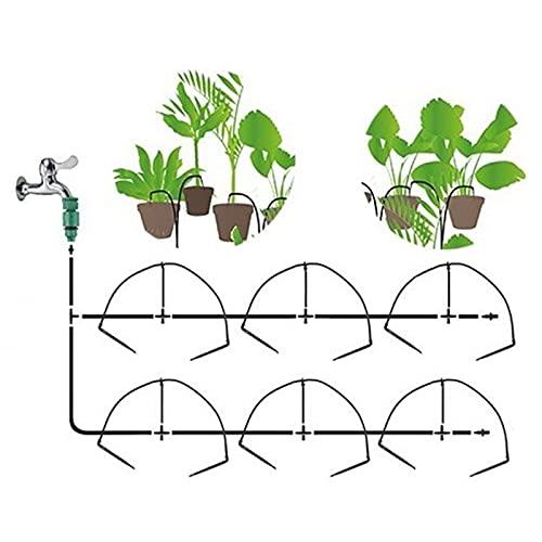 12 unids Micro Drip Emmiters Sistema de riego Home Garden Bonsai Flor en Maceta Irrigate Sistema Suculento Plantas de riego Kits (Color : Irrigation Kits)