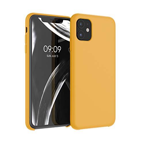 kwmobile Custodia Compatibile con Apple iPhone 11 - Cover in Silicone TPU - Back Case per Smartphone - Protezione Gommata Giallo Zafferano