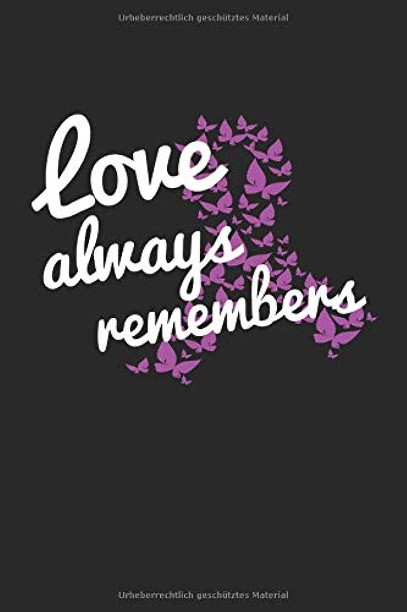 軸落胆させるシャーLove Always Remembers: Notizbuch mit Punktraster fuer alle Notizen, Skizzen, Zeichnungen, Termine oder als Tagebuch, Kalender oder Geschenk