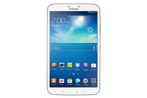 Samsung Galaxy Tab 3 20,3 cm (8 Zoll) Tablet (1,5GHz, Dual-Core, 1,5GB RAM, 16GB interner Speicher, 5 Megapixel Kamera, LTE, Android 4.2) weiß