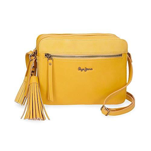 Bolso amarillo estilo bandolera