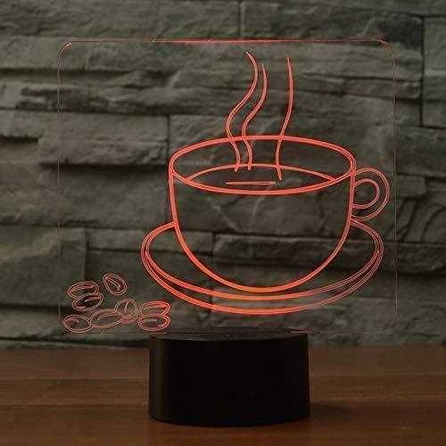Kaffeetasse Modell Optische Täuschung Lampe LED 3D-Lampe Nachtlicht Acryl Atmosphäre Lampe 7 Farbe moderne Lampe