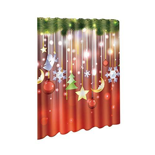Outflower Weihnachts Duschvorhang - Weihnachts Schneemann Serie - 180 * 180cm - Duschvorhang Aus Polyester