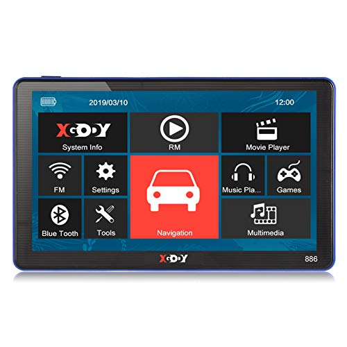 xgody 886 Bluetooth Truck GPS Navigation System für KFZ 17,8 cm Kapazitive Touchscreen GPS 8 GB ROM Navigator mit Lifetime Maps Updates gesprochen Turn-by-Turn Richtungen