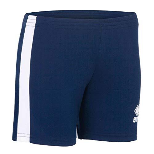 Errea Amazon, Pantaloncini Sportivi Donna, Blu Bianco, S
