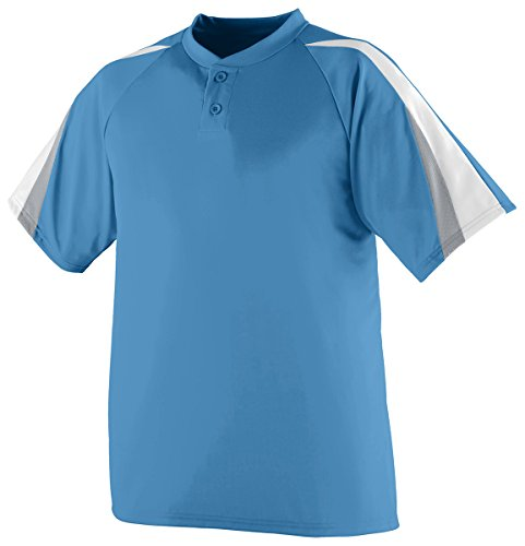 Augusta Sportswear Men'S Power Plus Baseball Jersey 2Xl Columbia Blue/White/S...