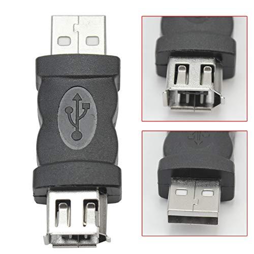 Loriver FireWire IEEE 1394 6-polige Buchse auf USB 2.0 Typ A Stecker Adapter Konverter