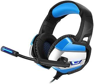Con cable auricular for juegos, montado en la cabeza del juego de auriculares con ruido giratorio Reducción Mic for PS4, interruptor de Nintendo, PC, ordenador portátil, Mac, Smart Phone (Color: Gris)
