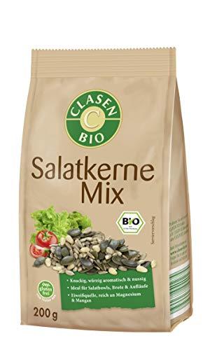 CLASEN BIO Salatkerne Mix - von Natur aus vegan und glutenfrei, biologischer Anbau - 200 g