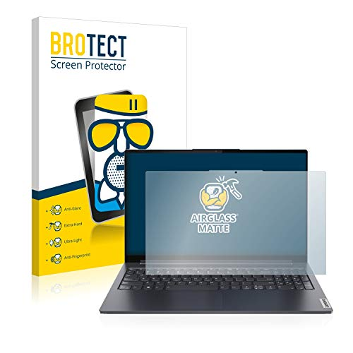 BROTECT Protector Pantalla Cristal Mate Compatible con Lenovo Yoga 7 14ITL5 Protector Pantalla Anti-Reflejos Vidrio, AirGlass
