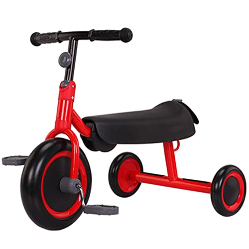 GUORZOM Pieghevole Triciclo Bambini, Triciclo Senza Pedali, Triciclo Bimba e Bimbo per al Chiuso e All'aperto Sicuro Cavalcare Giocattoli, Adatto a 85-120 cm Figli