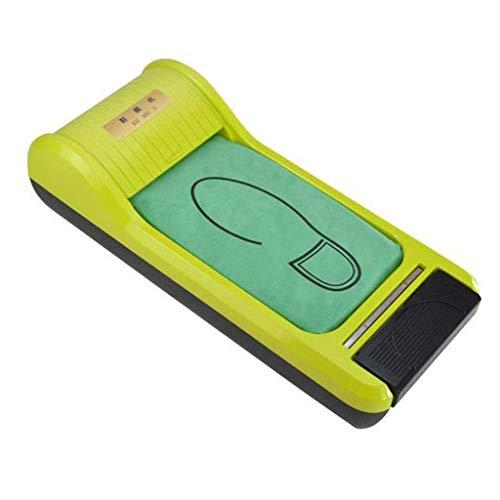 ZLXLX Indoor schoenfoliemachine Home Office-schoenfoliemachine, dispenser met 3-rollen wegwerpschoenfolies, vloerbedekking, wegwerpapparaten groen